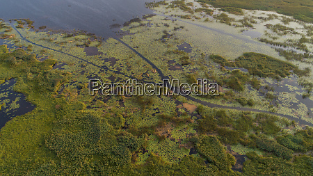 aerial view of kuti lake landscape