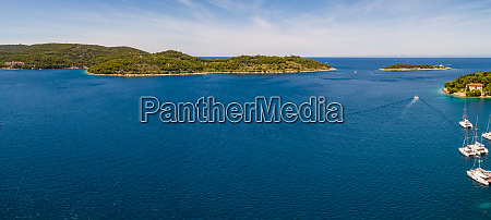 panoramic aerial view of opcina vis