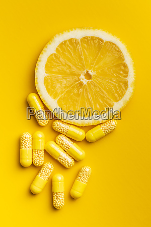 vitamin capsules vitamin c pills and