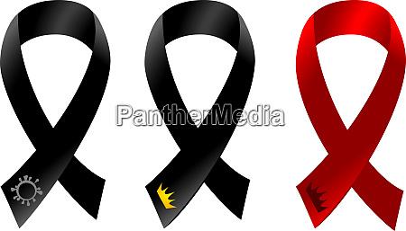 coronavirus mourning ribbon