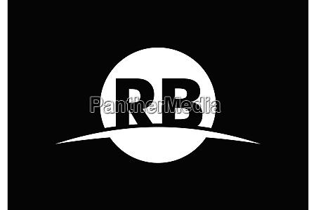 r b rb initial letter logo
