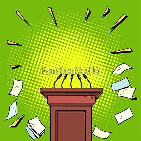 tribune chair podium