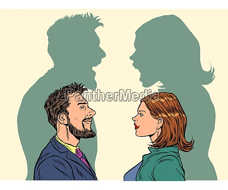 man and woman conflict quarrel concept