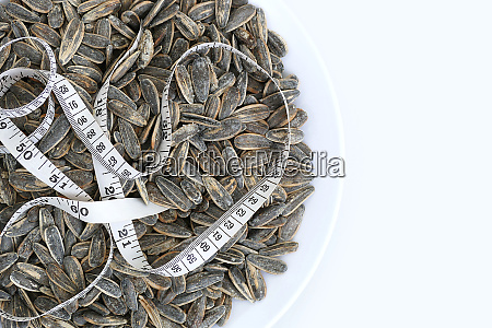 dry roasted and salted sunflower seeds
