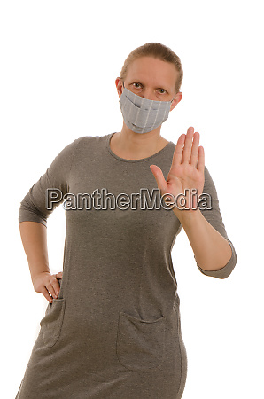 woman, with, mouth, protection, and, mask - 28231688