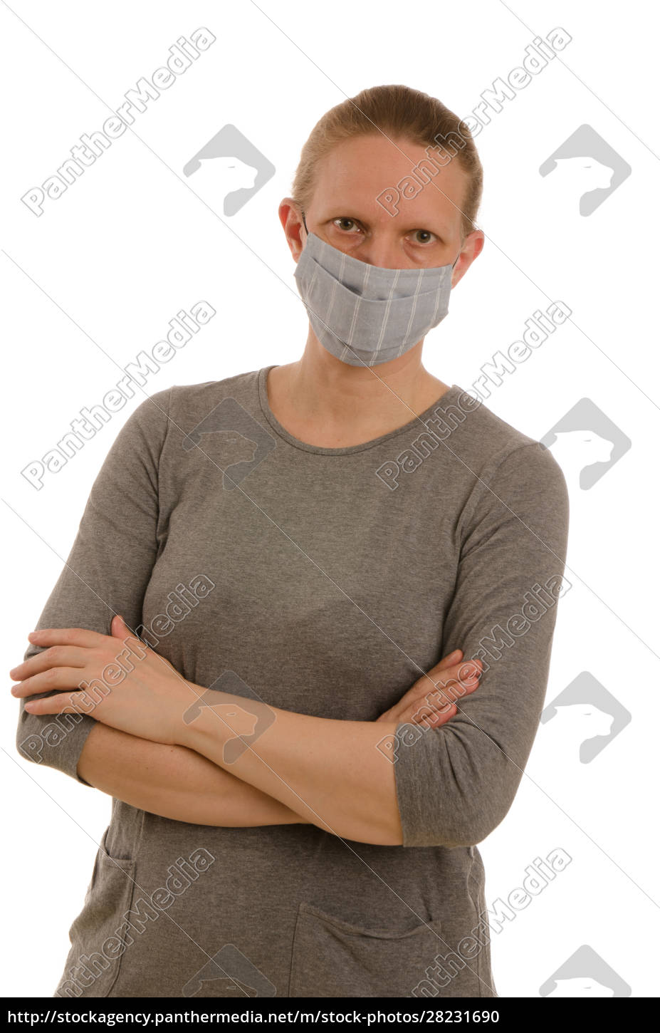 woman, with, mouth, protection, and, mask - 28231690