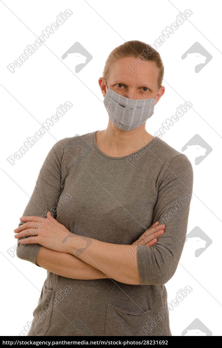 woman, with, mouth, protection, and, mask - 28231692