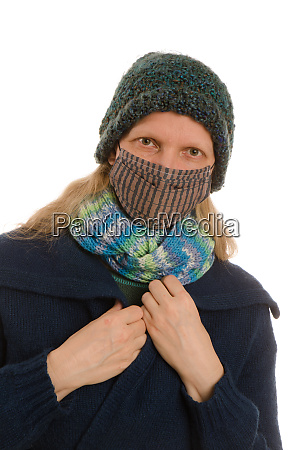 woman, with, mouth, protection, and, mask - 28231698