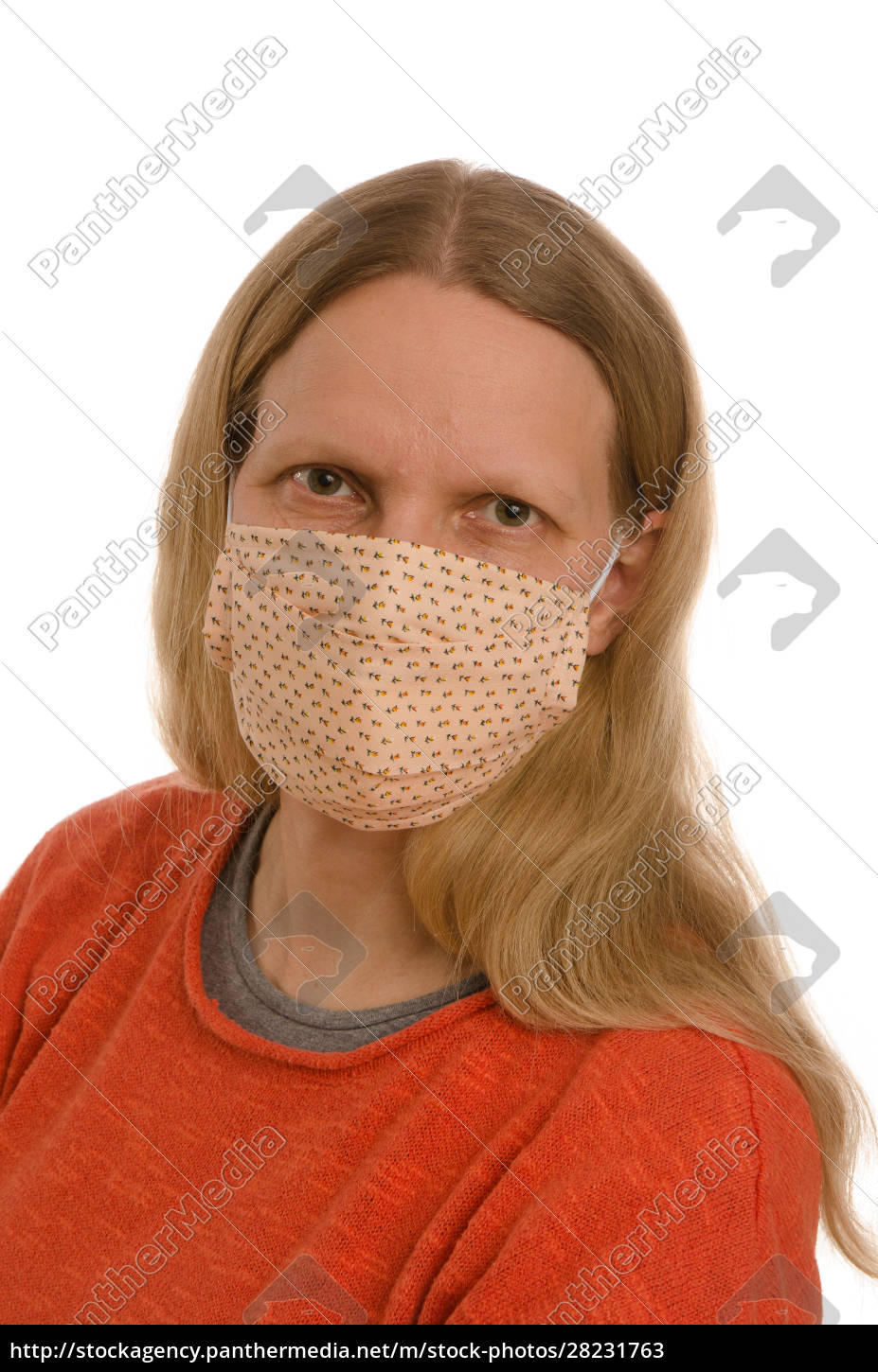 woman, with, mouth, protection, and, mask - 28231763
