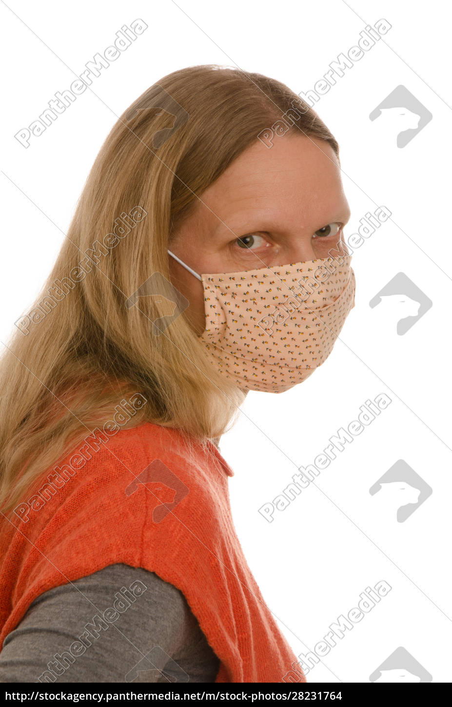 woman, with, mouth, protection, and, mask - 28231764
