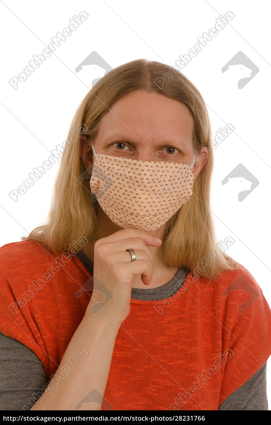 woman, with, mouth, protection, and, mask - 28231766