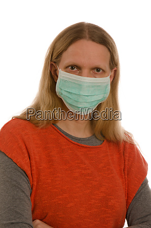 woman, with, mouth, protection, and, mask - 28231768