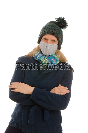 woman, with, mouth, protection, and, mask - 28231855