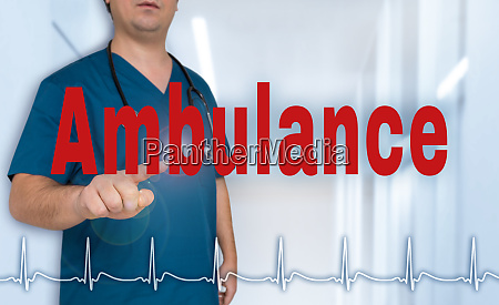 ambulance doctor shows on viewer with