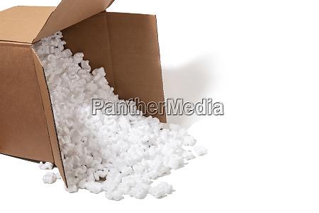 polystyrene or white styrofoam packing