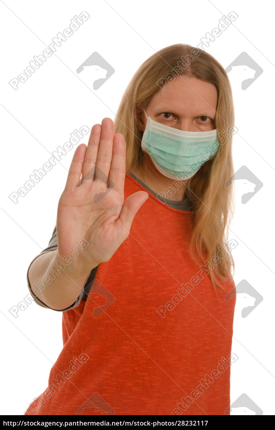 woman, with, mouth, protection, and, mask - 28232117
