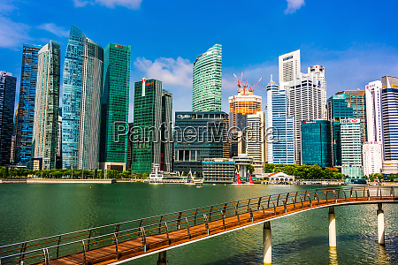singapore downtown seen from marina bay