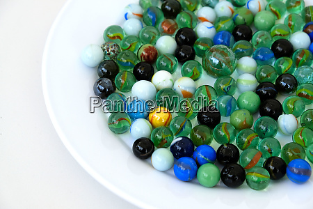 colored glass balls on 360 degree
