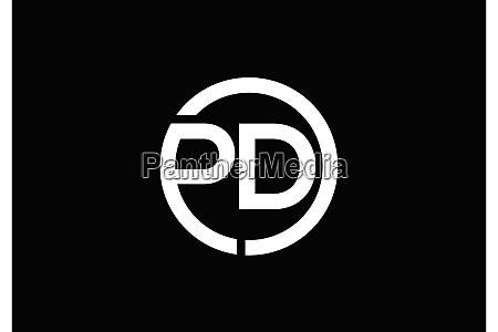 p d pd initial letter logo