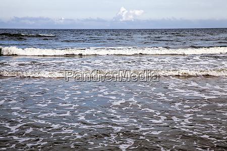 salt water in the sea