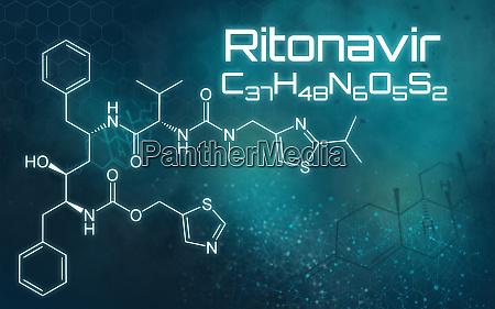 chemical formula of ritonavir on a