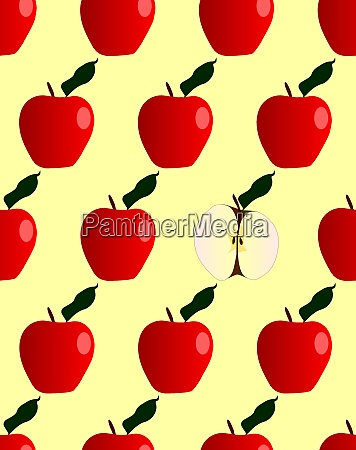 odd one out seamless red apple