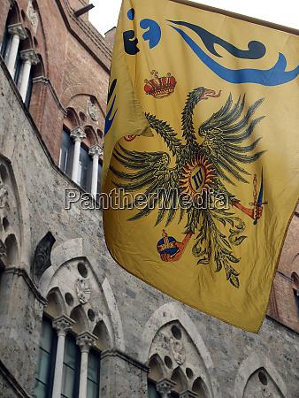 siena contrada dell aquila flag