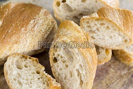 light baguette of rye flour