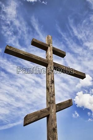 old wooden christian cross