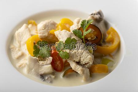 thai tom kha gay soup with