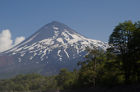 llaima volcano in the conguillio national