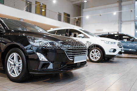 car dealership automobile presentation nobody