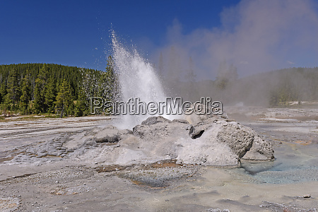 hot water and steam from an