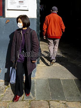 unidentified woman in seville spain wearing