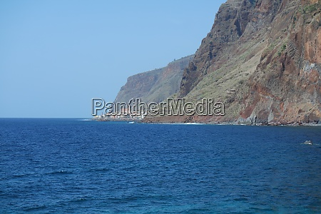 madeira south coast with a view