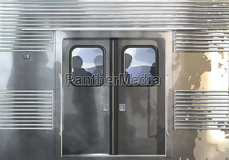 subway car close up 3d illustration