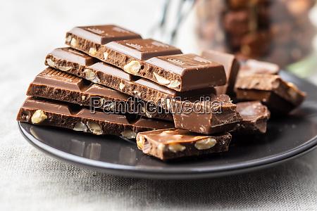 milk chocolate bars dark nut chocolate