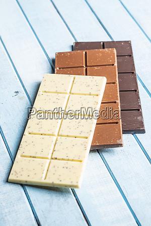 white milk and dark chocolate bars