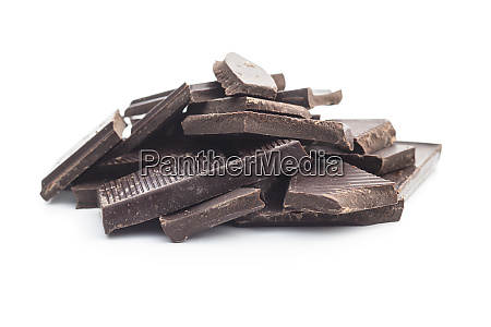 broken dark chocolate bar