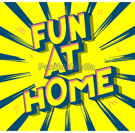 fun at home vector illustrated