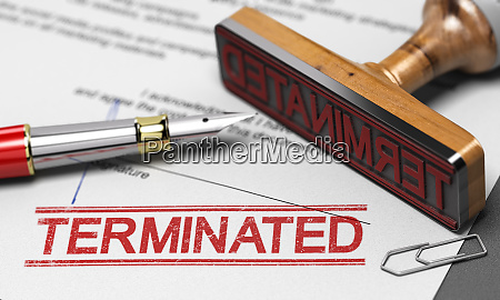 termination of contract agreement word terminated