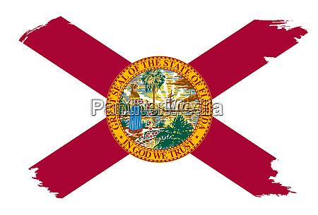 florida state flag with grunge border
