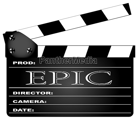 epic movie clapperboard