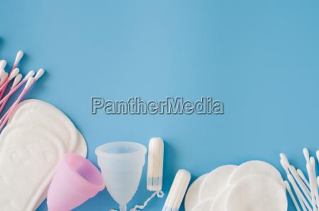 feminine hygiene accessories concept of feminine
