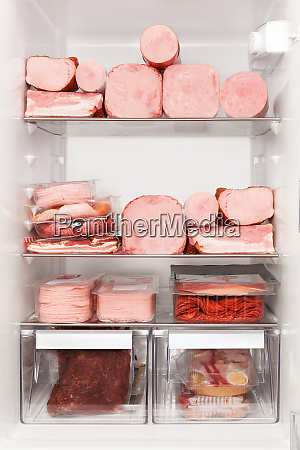 full fridge of meat carnivore diet
