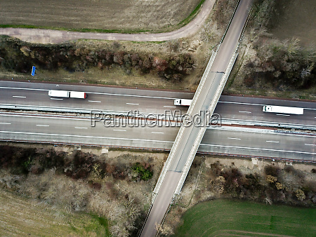view of a freeway drone photo