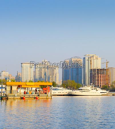 yachts marina gas station city