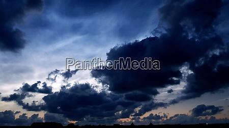 midsummer clouds at the atlantic coast