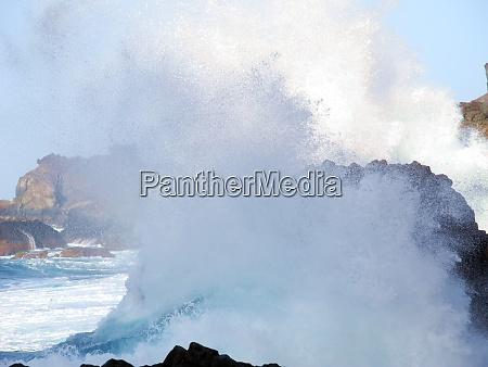 splash of a wave on a