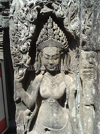 wall sculptures of angkor wat cambodia